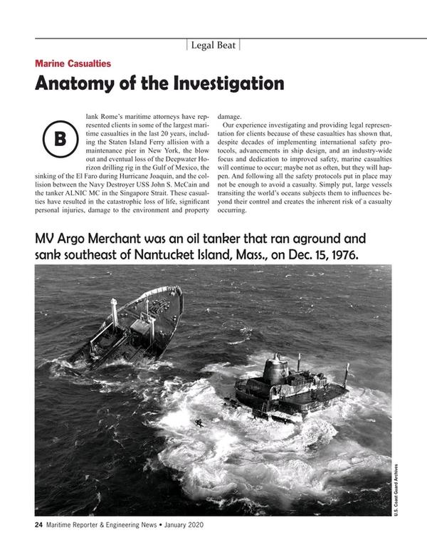 Maritime Reporter Magazine, page 24,  Jan 2020