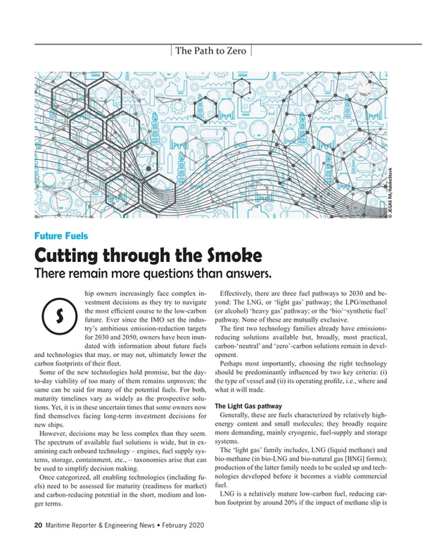 Maritime Reporter Magazine, page 20,  Feb 2020