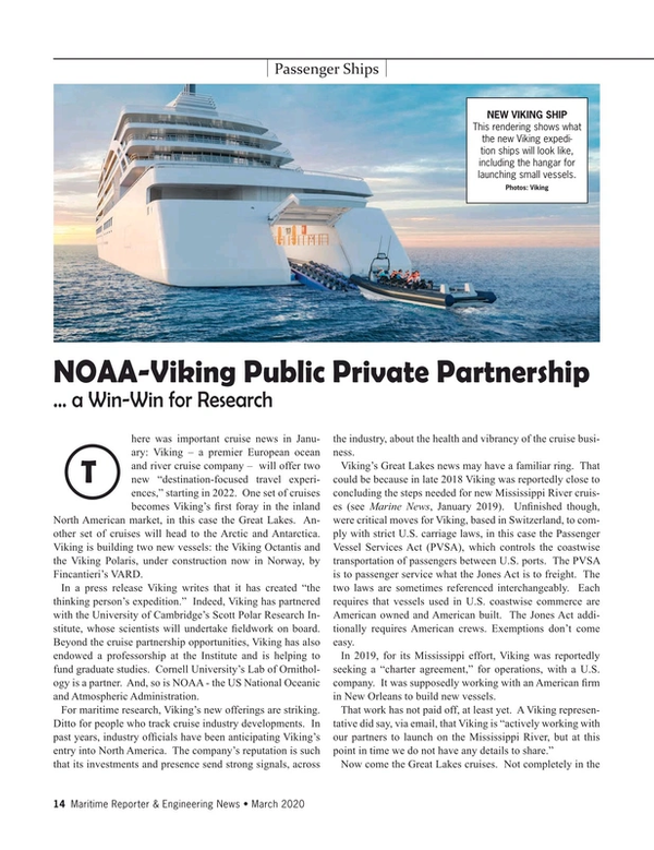 Maritime Reporter Magazine, page 14,  Mar 2020