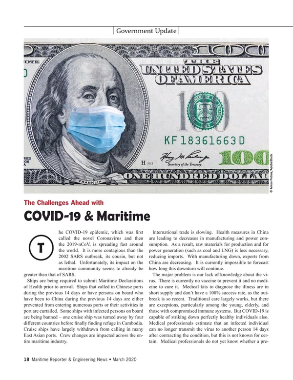 Maritime Reporter Magazine, page 18,  Mar 2020