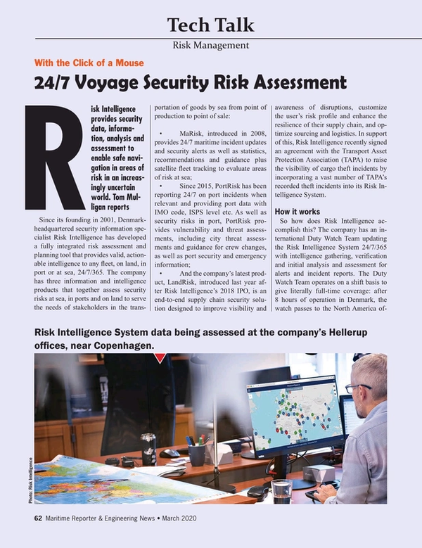 Maritime Reporter Magazine, page 62,  Mar 2020