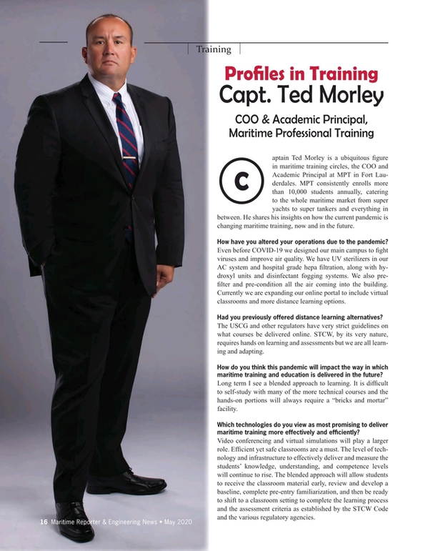 Maritime Reporter Magazine, page 16,  May 2020