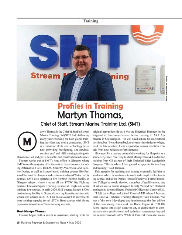 Maritime Reporter Magazine, page 18,  May 2020