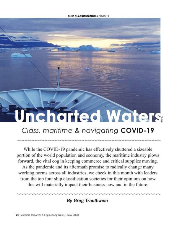 Maritime Reporter Magazine, page 28,  May 2020