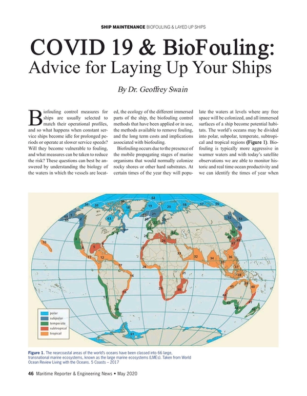 Maritime Reporter Magazine, page 46,  May 2020