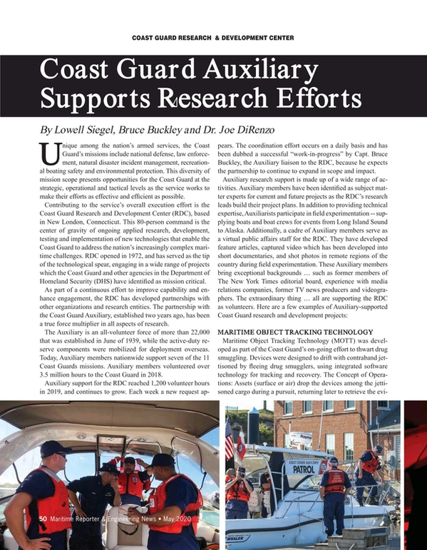 Maritime Reporter Magazine, page 50,  May 2020