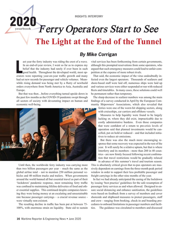 Maritime Reporter Magazine, page 16,  Jun 2020