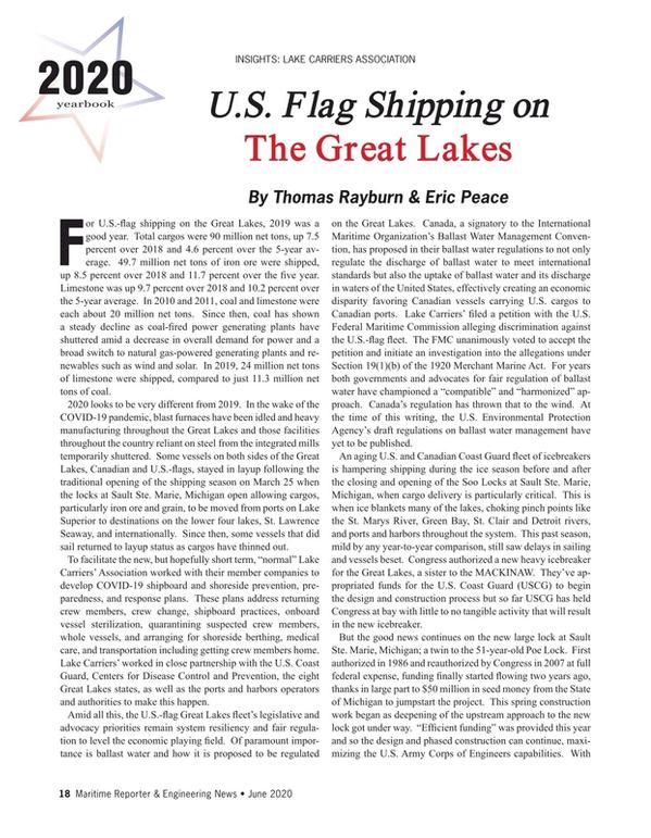 Maritime Reporter Magazine, page 18,  Jun 2020