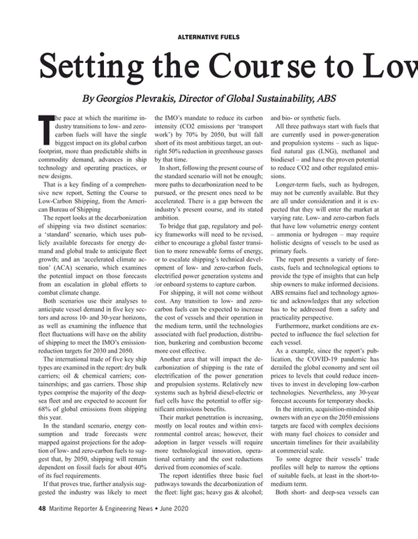 Maritime Reporter Magazine, page 48,  Jun 2020