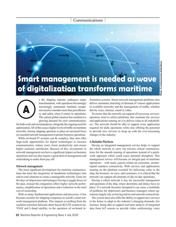 Maritime Reporter Magazine, page 22,  Jul 2020