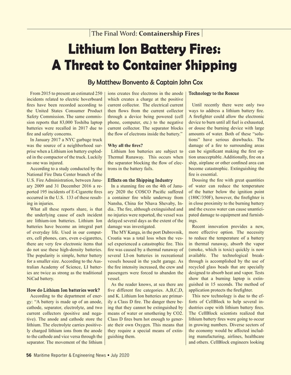 Maritime Reporter Magazine, page 56,  Jul 2020