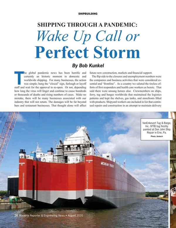 Maritime Reporter Magazine, page 24,  Aug 2020