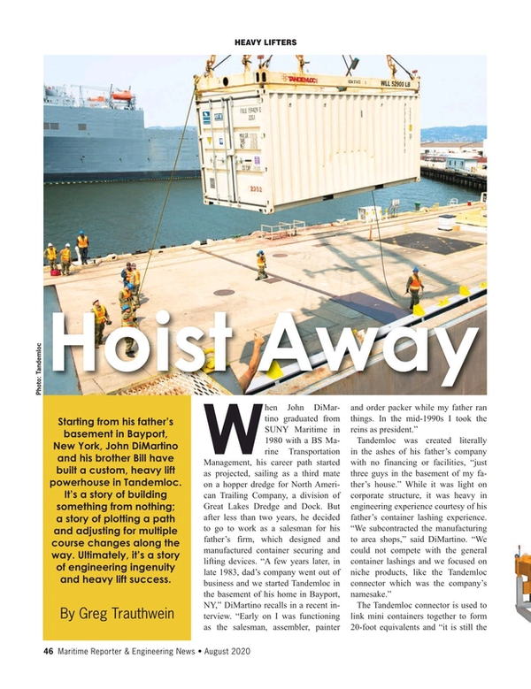 Maritime Reporter Magazine, page 46,  Aug 2020