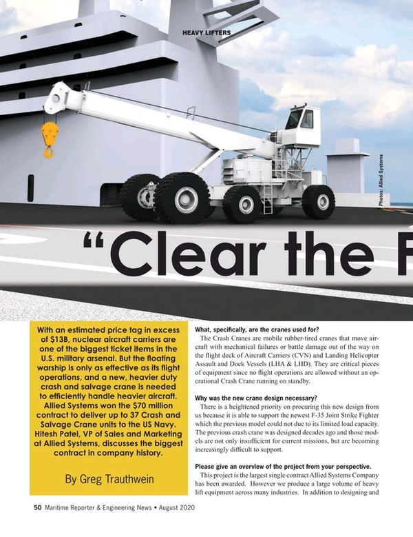 Maritime Reporter Magazine, page 50,  Aug 2020