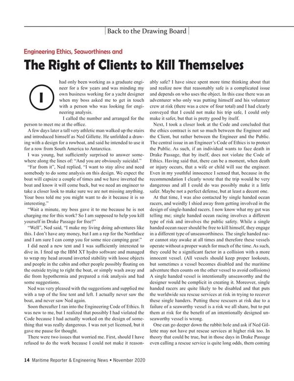 Maritime Reporter Magazine, page 14,  Nov 2020