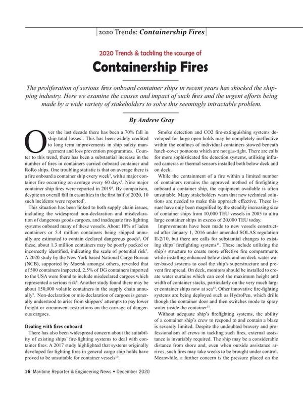 Maritime Reporter Magazine, page 16,  Dec 2020