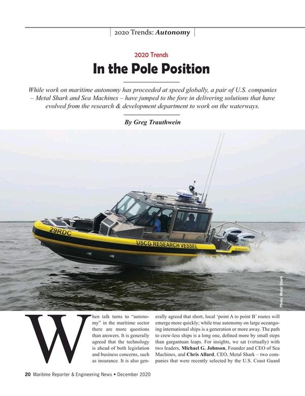Maritime Reporter Magazine, page 20,  Dec 2020