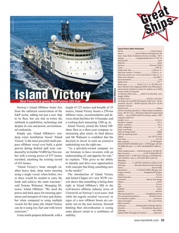 Maritime Reporter Magazine, page 33,  Dec 2020