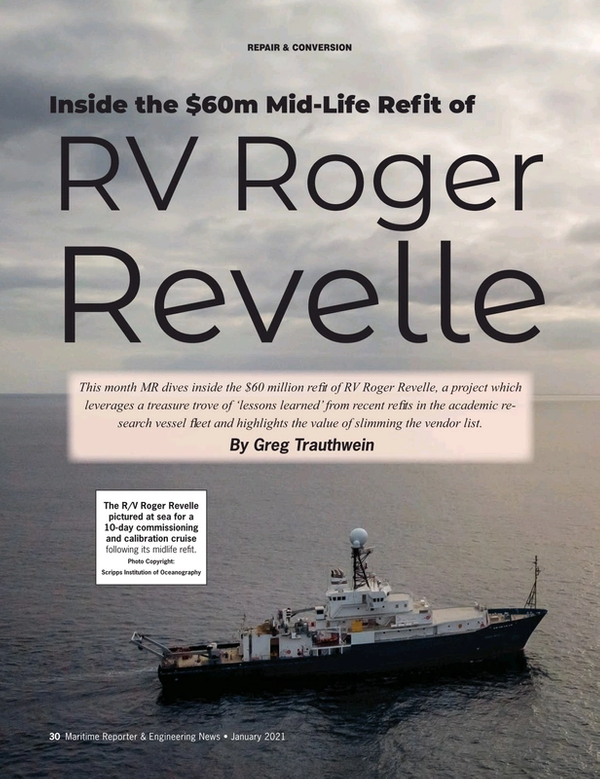 Maritime Reporter Magazine, page 30,  Jan 2021