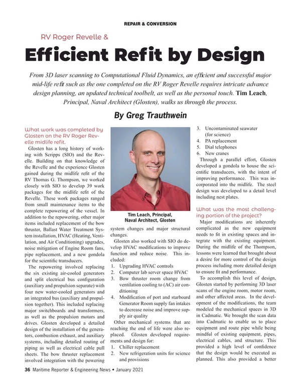 Maritime Reporter Magazine, page 36,  Jan 2021