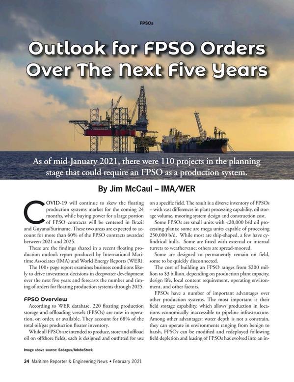 Maritime Reporter Magazine, page 34,  Feb 2021