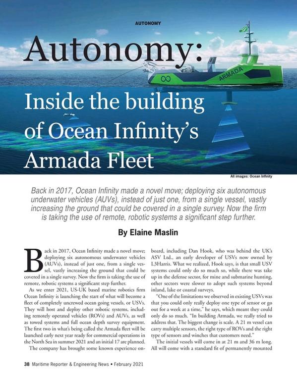 Maritime Reporter Magazine, page 38,  Feb 2021