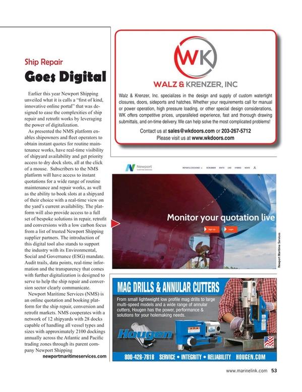 Maritime Reporter Magazine, page 53,  Apr 2021