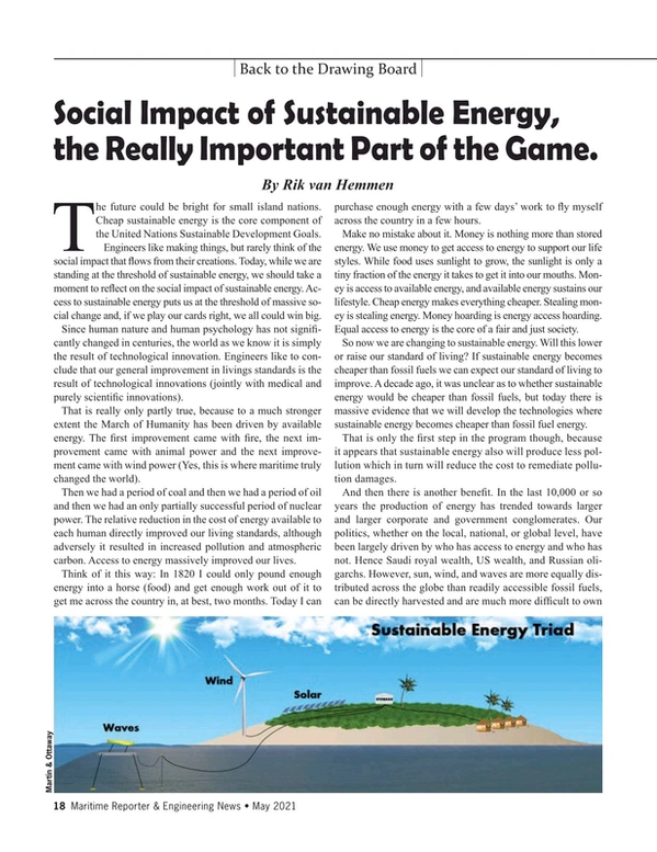 Maritime Reporter Magazine, page 18,  May 2021