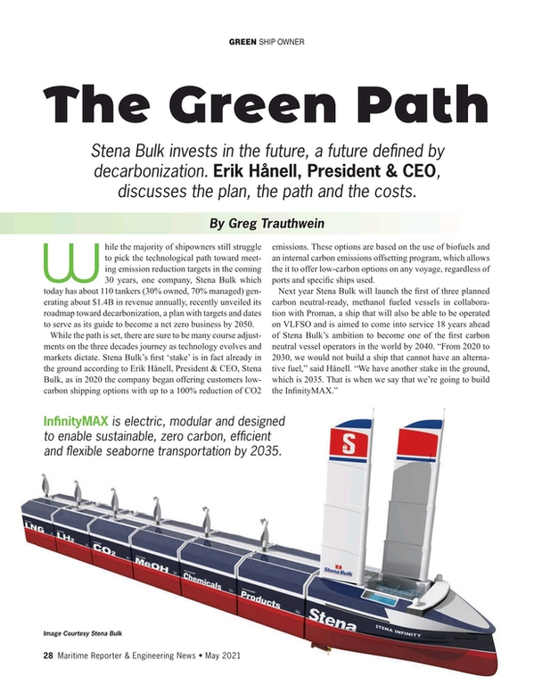 Maritime Reporter Magazine, page 28,  May 2021