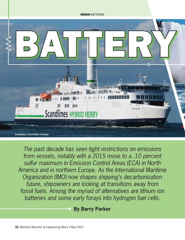 Maritime Reporter Magazine, page 32,  May 2021