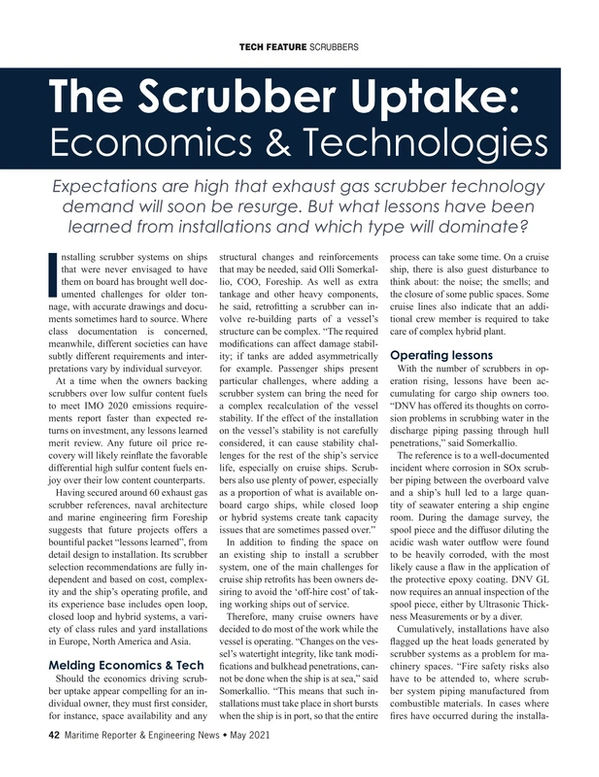 Maritime Reporter Magazine, page 42,  May 2021