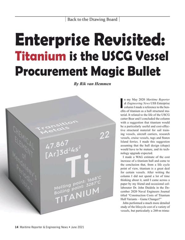 Maritime Reporter Magazine, page 14,  Jun 2021