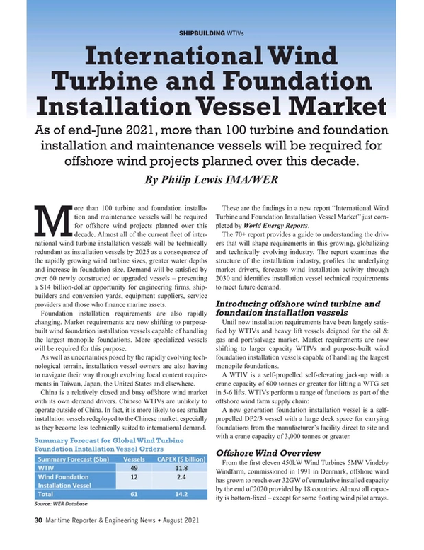 Maritime Reporter Magazine, page 30,  Aug 2021