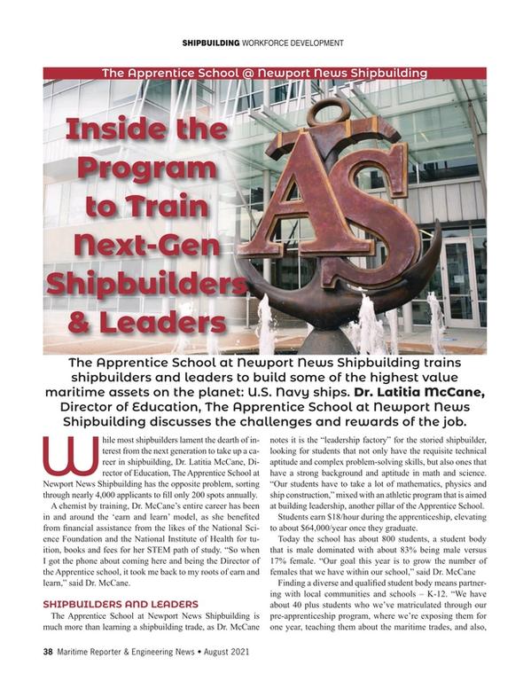 Maritime Reporter Magazine, page 38,  Aug 2021