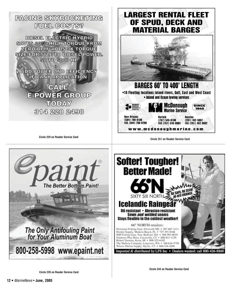 West Coast, Marine News Magazine June 2005 #12