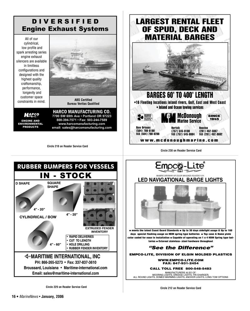 West Coast, Marine News Magazine January 2006 #16