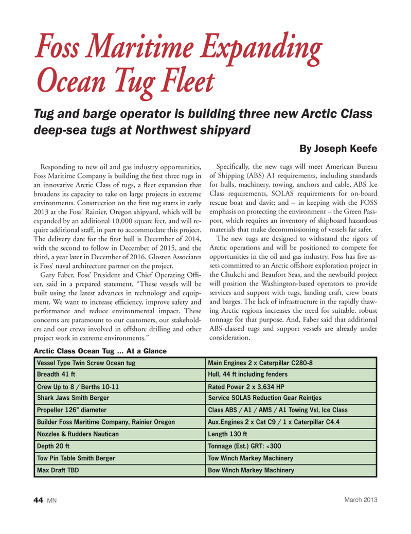 Marine News Magazine, page 44,  Mar 2013 materials