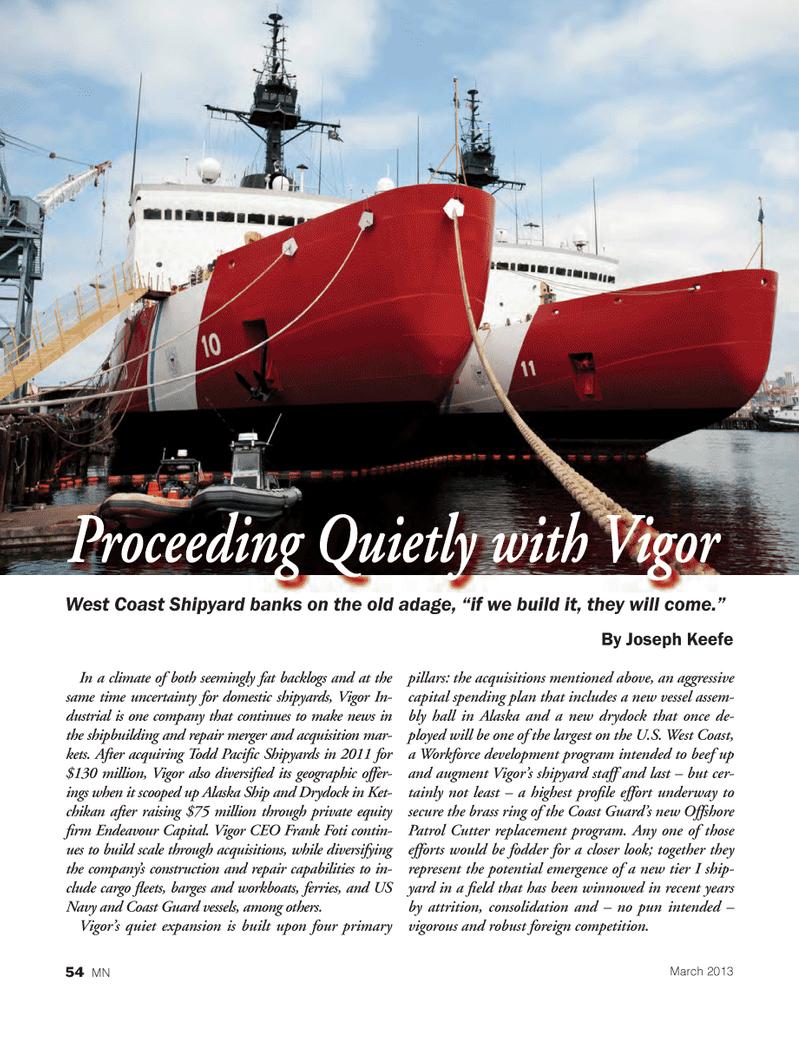 Marine News Magazine, page 54,  Mar 2013 Todd Paci
