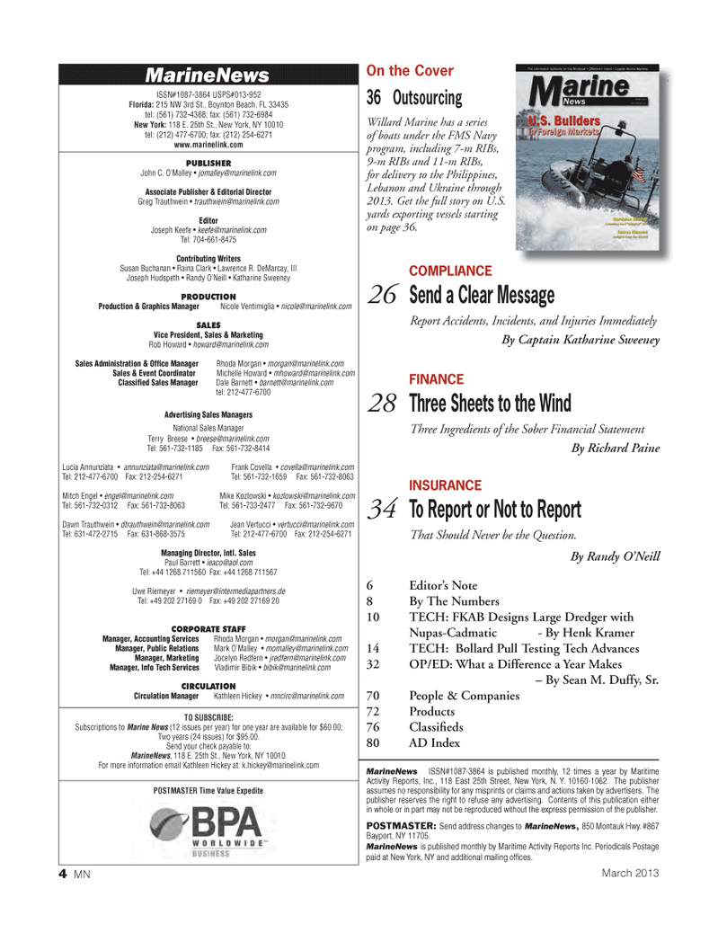 Marine News Magazine, page 4,  Mar 2013 Vladimir Bibik