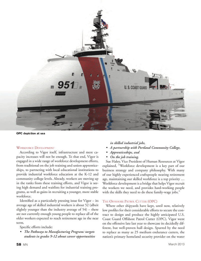 Marine News Magazine, page 58,  Mar 2013 Portland Community College