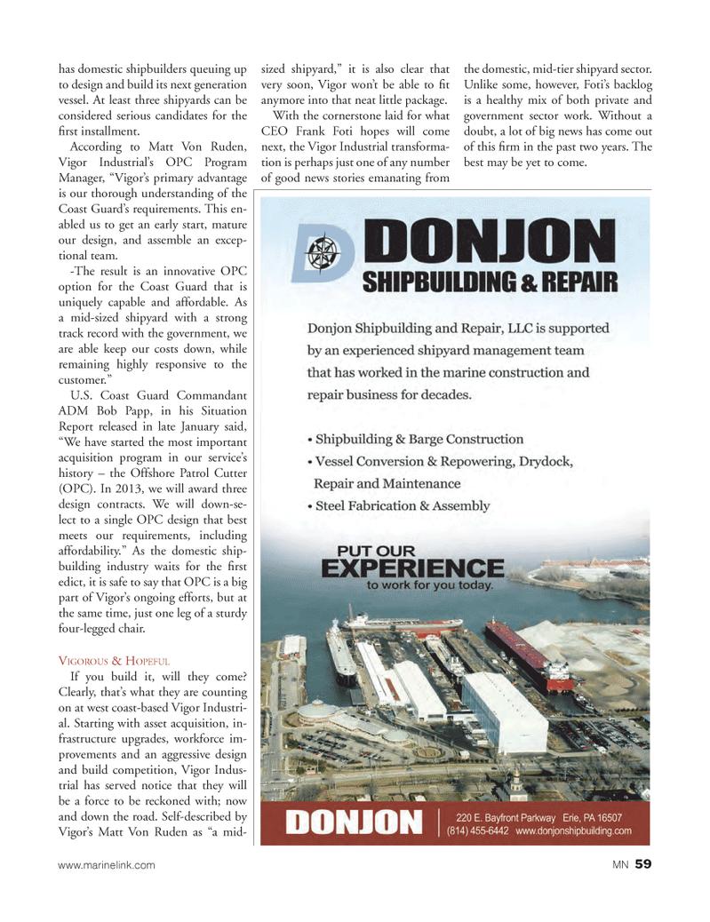 Marine News Magazine, page 59,  Mar 2013