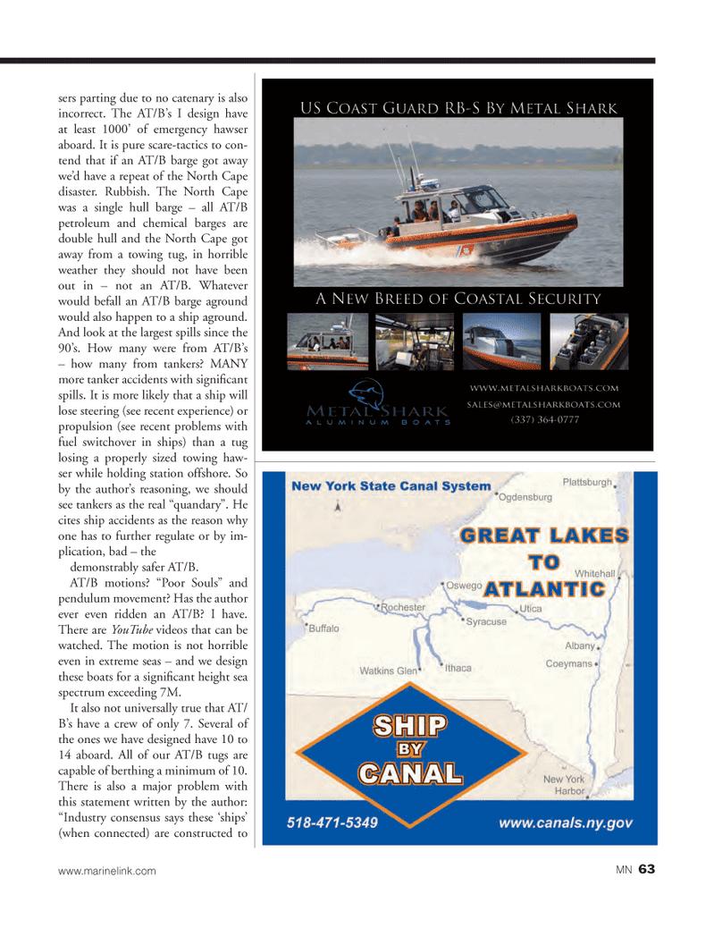 Marine News Magazine, page 63,  Mar 2013 North Cape