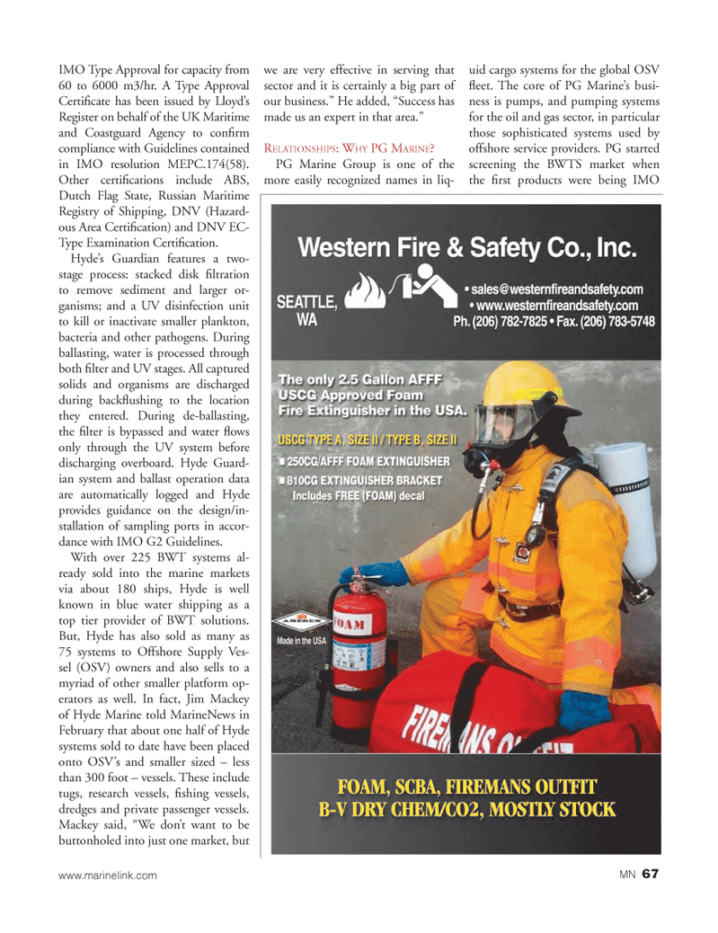Marine News Magazine, page 67,  Mar 2013 rst products