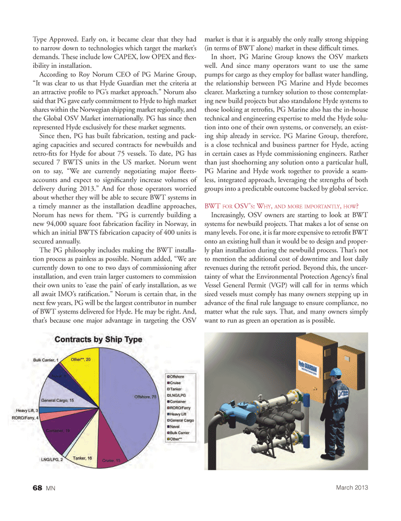 Marine News Magazine, page 68,  Mar 2013 turnkey solution