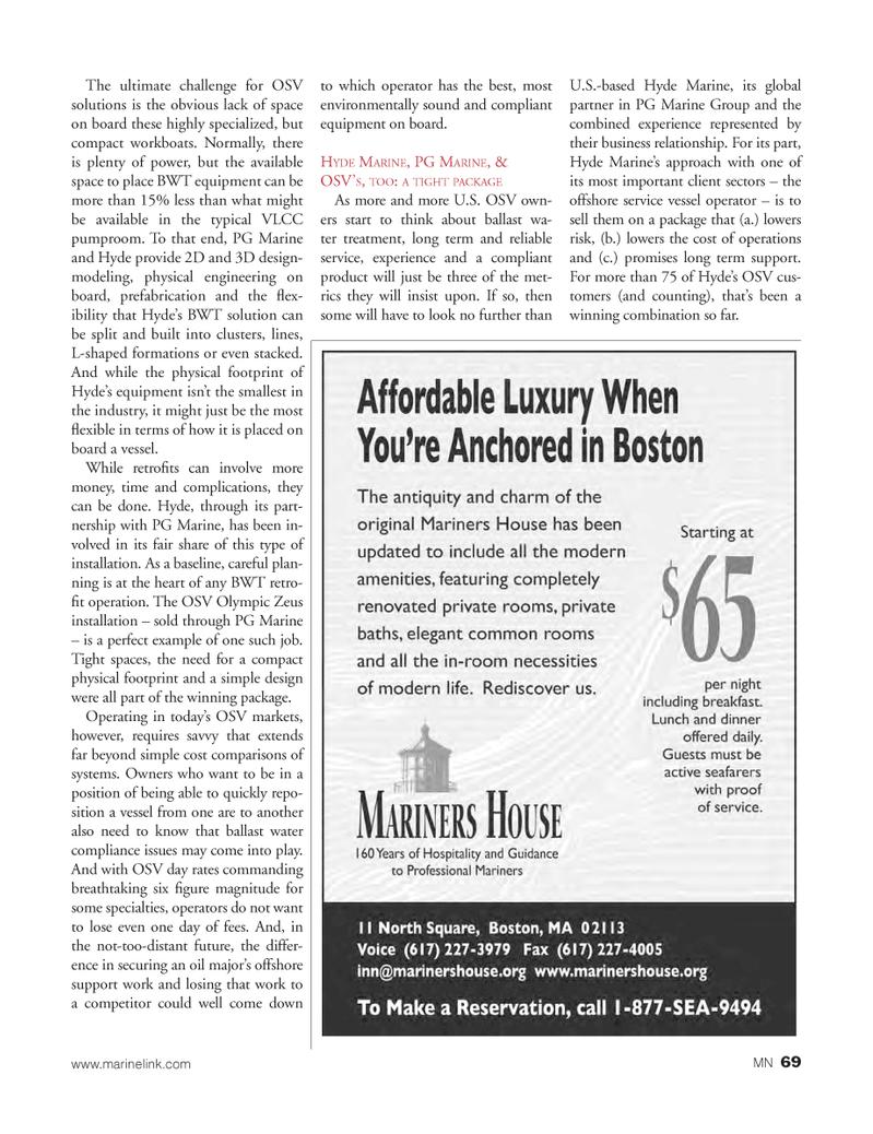 Marine News Magazine, page 69,  Mar 2013 compliant product
