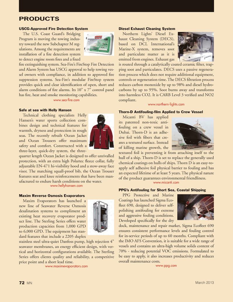 Marine News Magazine, page 72,  Mar 2013 Short sea