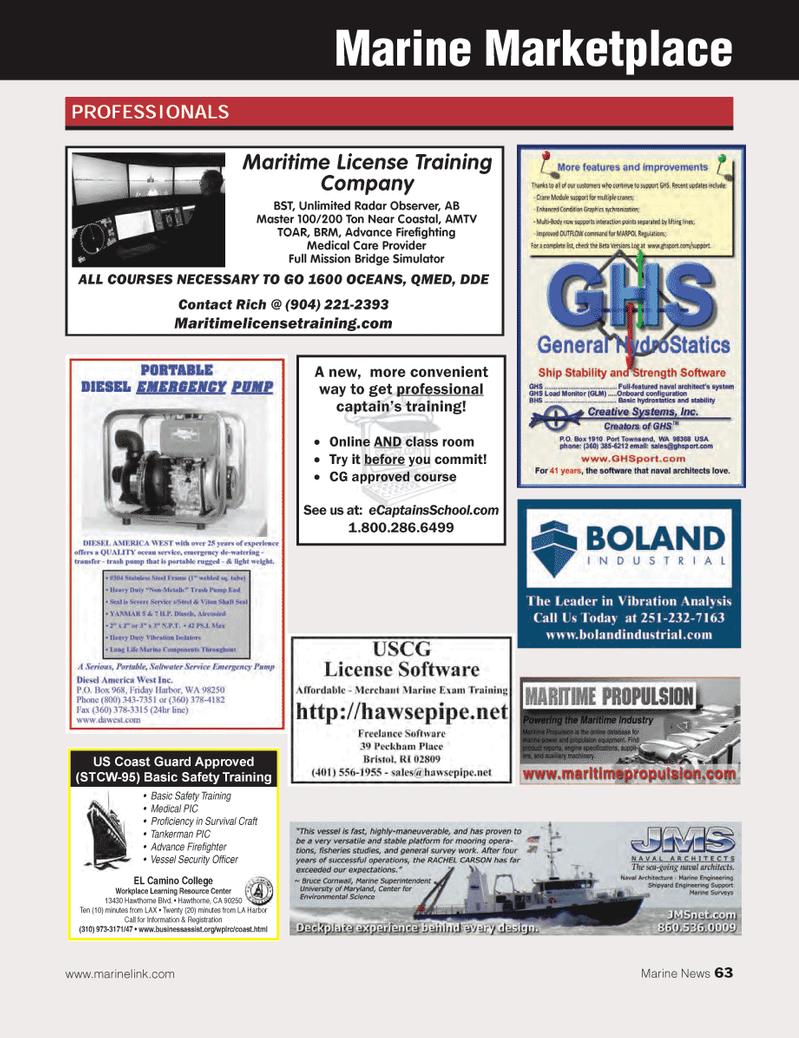Marine News Magazine, page 63,  May 2013