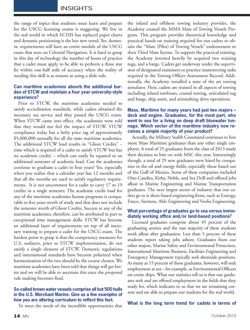 Marine News Magazine, page 14,  Oct 2013 Otto Candies
