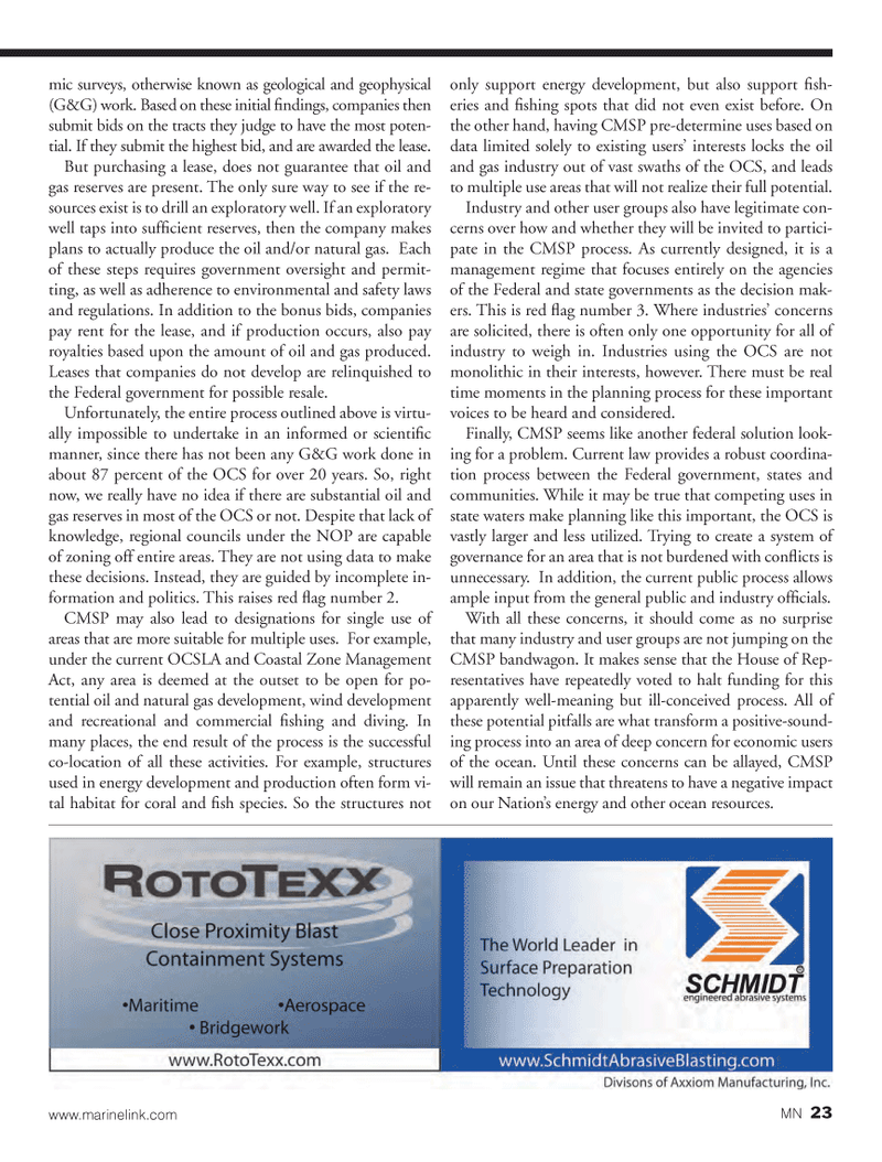Marine News Magazine, page 23,  Oct 2013 tential oil