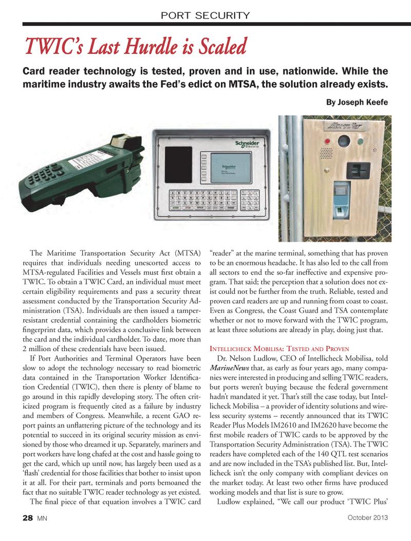 Marine News Magazine, page 28,  Oct 2013 IM2620